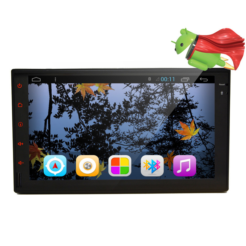 """7"""" 2 Din Android 4.4 Quad Core Car Video Player GPS Navigation 1024*600  Car DVD Player Radio RDS Audio Wifi (No DVD)"""