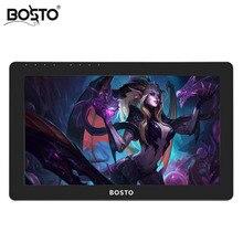 BOSTO KINGTEE 13HDV4, Gráficos Tablet Monitor de Monitor para DrawTablet, Visor Interativo com Caneta, Pen Display, Exibição Digitador