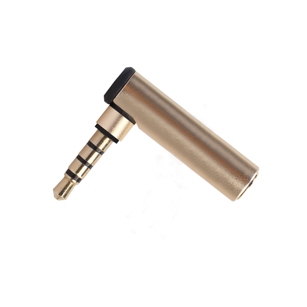 1pcs 90 Degree Right Angled 3.5mm Male To Female Audio Adapter Plug Connectors L-shaped Stereo Headphone Microphone Plug Mini