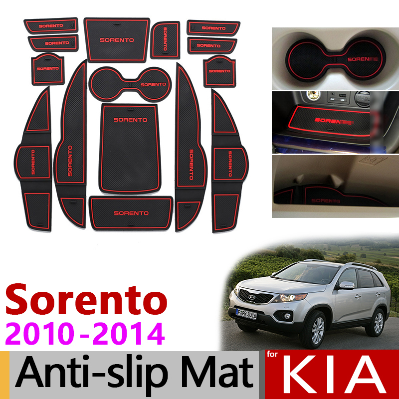 Tapis anti-dérapant en caoutchouc pour tapis de porte pour KIA Sorento XM 2010 2011 2012 2013 2014 Kia Sorento R 2010-2014 accessoires autocollants