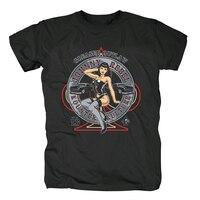 Hot Rod classica vecchia Auto hot girl T shirt Cool Top Manica Corta Hipster uomo t shirt tee unisex