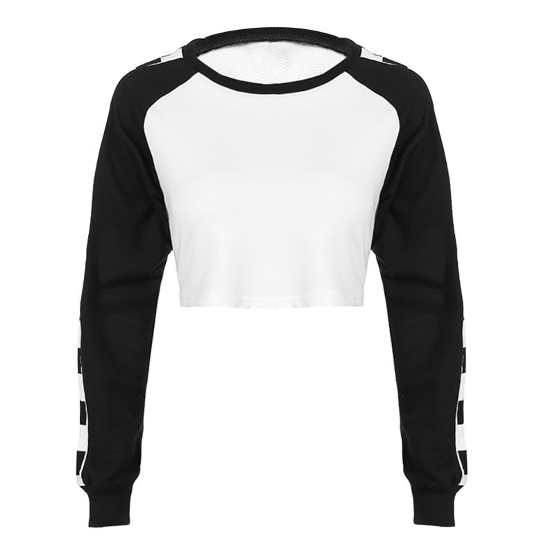Vbiger Long Sleeve Sports Crop Top Short Sweatshirt Crop Tops for Wome Best For Running Yoga and Everyday Wear