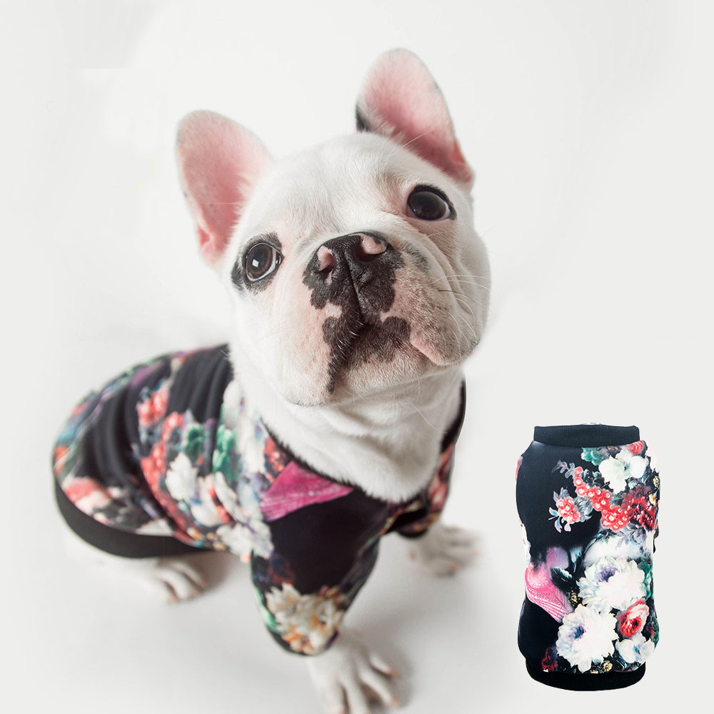Fashion Printing Pet Dog Clothes Jacket Coat Puppy Cats Doggy Shirt Sweater Costume New