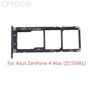 Оригинальный новый держатель для Asus Zenfone 4 MAX ZC554KL, две SIM-карты + лоток для Micro SD, замена