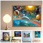2018 Frameless Scenic Wonderland Universe 5D DIY Diamond Painting Cross Stitch Craft Kit Paint by Number Kits for Adults Kids