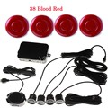 1 Set 4 Parking Sensors Car Backup Reverse Radar Buzzer Sound Alarm Sound Alert Indicator 12V 44 Color Reverse Assistance System