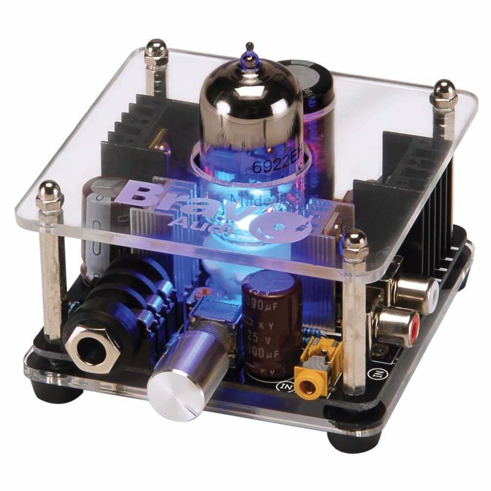 Bravo Audio V1 Valve Class A EH6922 Tube Headphone Amplifier
