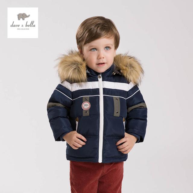 DB4668 DAVE BELLA bebé acolchada chaqueta con capucha ropa de invierno por la chaqueta