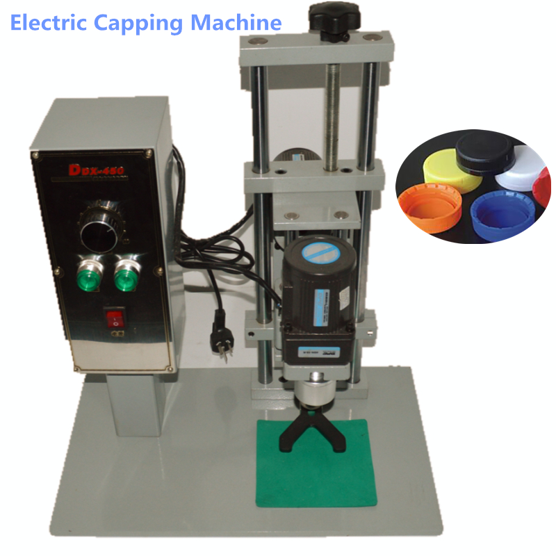 Desktop electric Capping Machine Plastic bottle capping machine Diameter 10-50mm Capping Screwing Machine DDX-450 2016 manual plastic bottle capping sealing machine handheld cap screwing machine 10 50mm free ship
