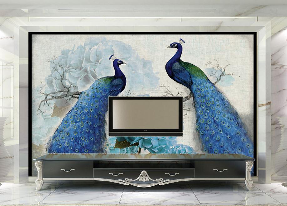 3D photo wallpaper custom 3d wall murals wallpaper Peacock