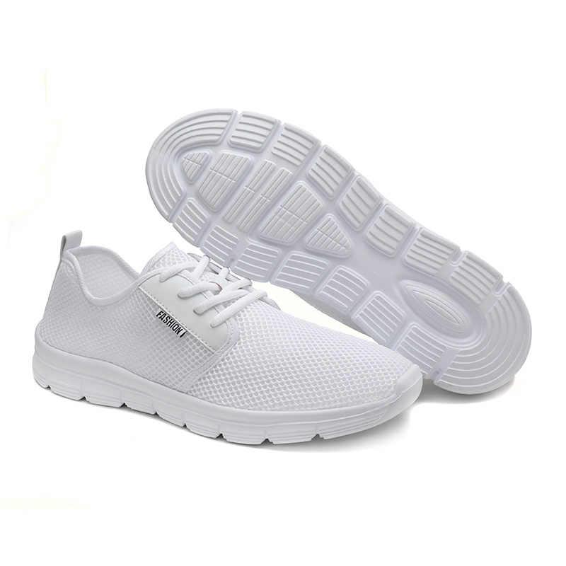 Zapatos para hombre, de malla, de moda, con cordones, de 2019, de marca de nimnie, cómodos y ligeros, transpirables, zapatos para conducir