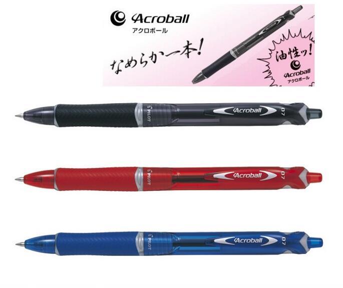 Blue 3 x Pilot BPAB-15F Acroball 0.7mm Fine Oil Based Ballpoint Pen