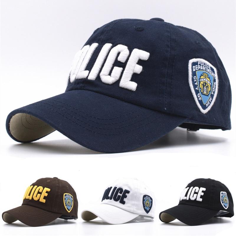 Prix pour 11 Couleurs Enfants de Haute Qualité Coton Police Baseball Casquettes pour Garçons Filles Os Gorras Chapeau Snapback Caps