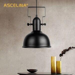 Image 4 - בציר תליון אור תעשייתי תליון מנורת רטרו ברזל תליית מנורת E27 cocina accesorio לבית וחנות דקורטיבי תאורה
