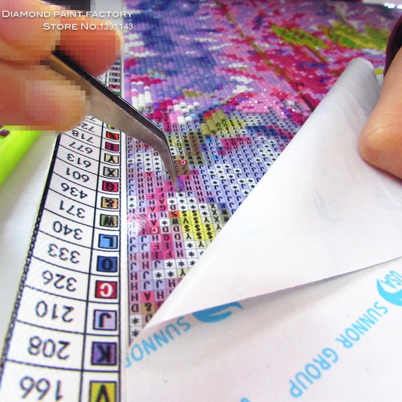 Artesanía Diy Diamante Bordado Pintura Otoño 40x30cm Pared - Artes, artesanía y costura - foto 4