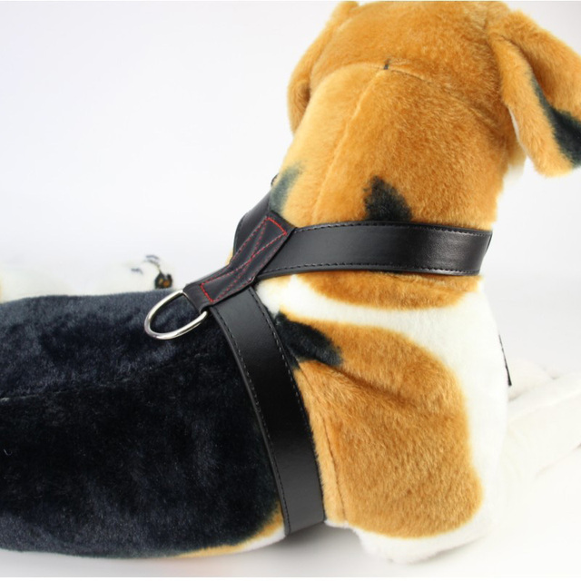 Adjustable PU Leather Dog Harness