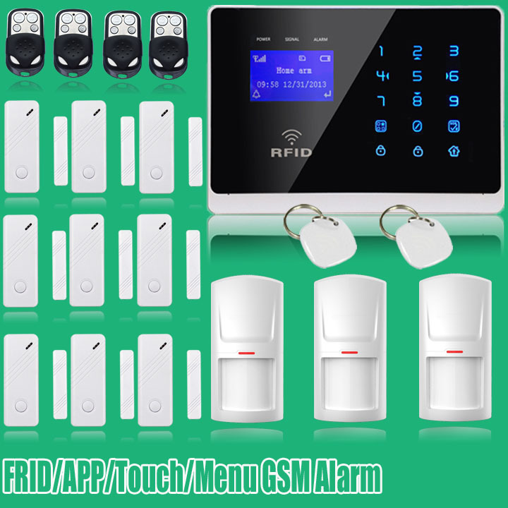 G2FX Russian/English/Italian Voice Latest Android Dual Net Touch keypad Color Display Dual Net GSM Alarm System ...