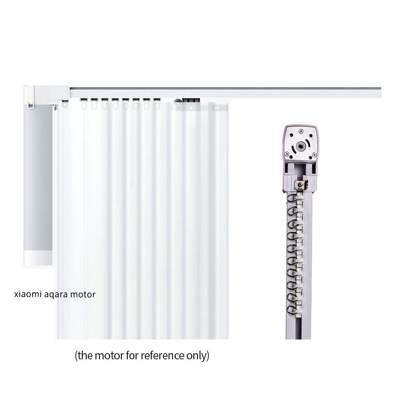 Image 5 - Customized High quality Super Quiet Electric Curtain Track for Xiaomi and DOOYA Curtain motor, Super Silent Curtain rail-in Automatic Curtain Control System from Home Improvement