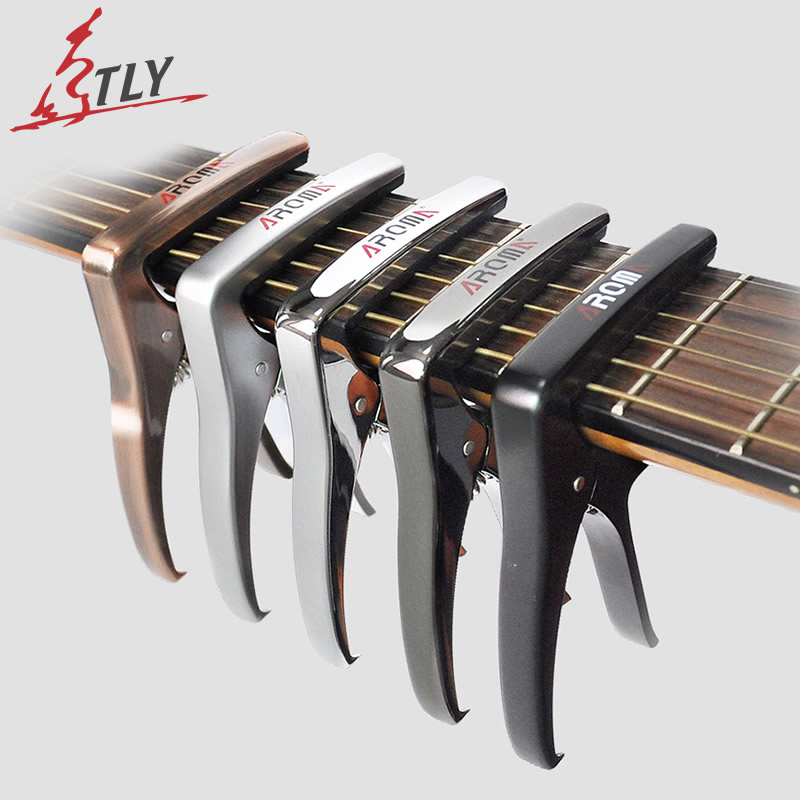 AROMA High Quality Zinc Alloy Guitar Capo Bridge Pin Puller 2 in 1 Acoustic Electric Guitar Accessories Multifunctional
