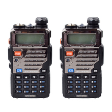 2 PCS BaoFeng Walkie Talkie UV-5RE Dual-Band 136-174/400-520 MHz FM Ham Two-way Portable Radio