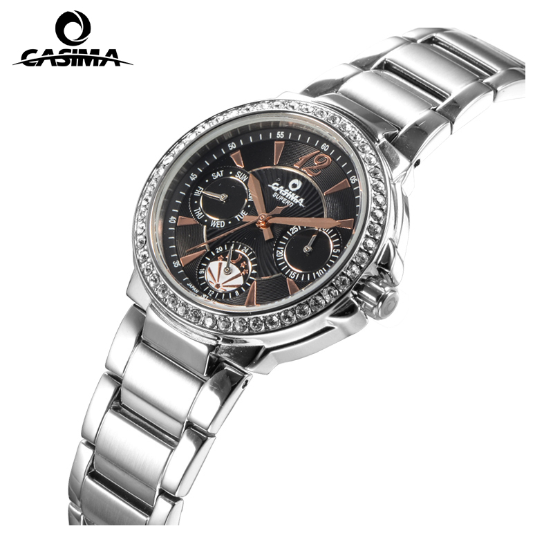 Luxury Brand CASIMA Women Quartz font b Watches b font montre femme Fashion Diamond Crystal Ladies