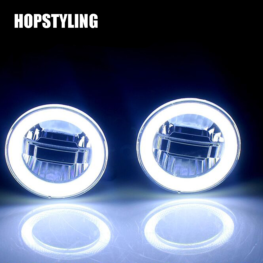 Hopstyling Auto LED Angel Eyes Daytime Running Light Car Projector Fog Lamp For Nissan Pathfinder 2005-2015 3in1 function автоинструменты new design autocom cdp 2014 2 3in1 led ds150