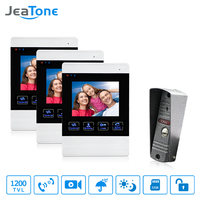 JeaTone Video Door Phone Wired Intercom Doorbell Camera HD Connect CCTV Electronic Lock Monitor Unlocking Monitoring