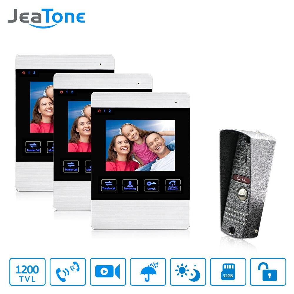 JeaTone видео двери Телефон проводной домофон дверь Камера HD Connect CCTV электронный замок монитор разблокировки мониторинга говорить