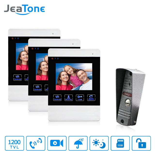 jeatone video door phone wired intercom doorbell camera hd connect rh aliexpress com