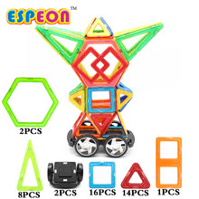 Espeon 43 PCs Robot Magnetic Designer Construction Set Model & Building Plastic Magnetic Blocks Educational Toys For Kids Gift(China)
