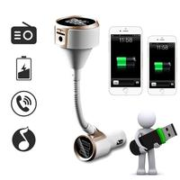 Smart Car Interior 3 4A Dual USB Car Charger Bluetooth Hands Free FM Transmitter Modulator Stereo