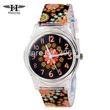 Hansying Для женщин часы Элитный бренд часы хризантемы Смола Ремень Дизайн детский спортивный Водонепроницаемый кварцевые часы