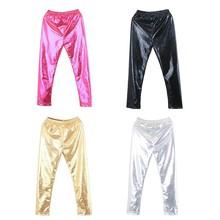 Леггинсы для девочек, модные блестящие штаны для маленьких девочек, леггинсы, красивые повседневные штаны, укороченные штаны