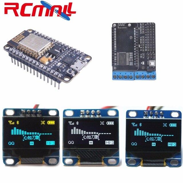 NodeMCU Devkit 2.0 IIC SPI המבוסס על ESP8266 ESP 12 CP2102 + 0.96 Serial IIC I2C מודול תצוגת OLED RCmall DIYmall