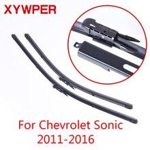 Щетки стеклоочистителя XYWPER для Chevrolet Sonic 2011 2012 2013 автомобильные аксессуары Мягкие резиновые Стеклоочиститель