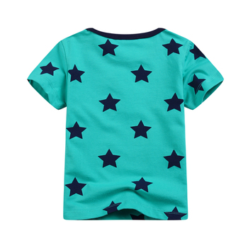 New models children boys T shirts fashion all printed stars baby short-sleeved Tees & Tops summer toddler clothes Tshirt 2017
