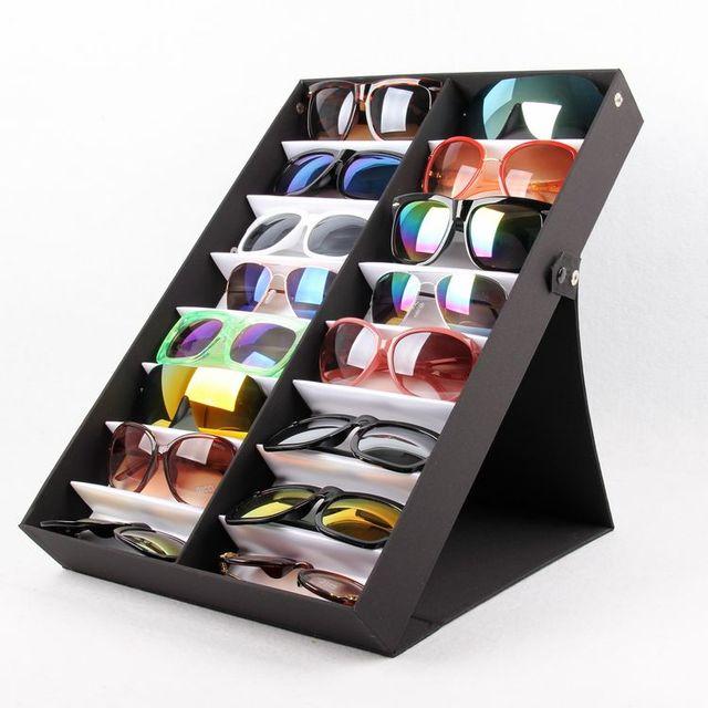 Foldable Sunglasses Box Eyewear Organizer Display Case Collector Eyeglass Box  Sunglasses Storage Box Holder