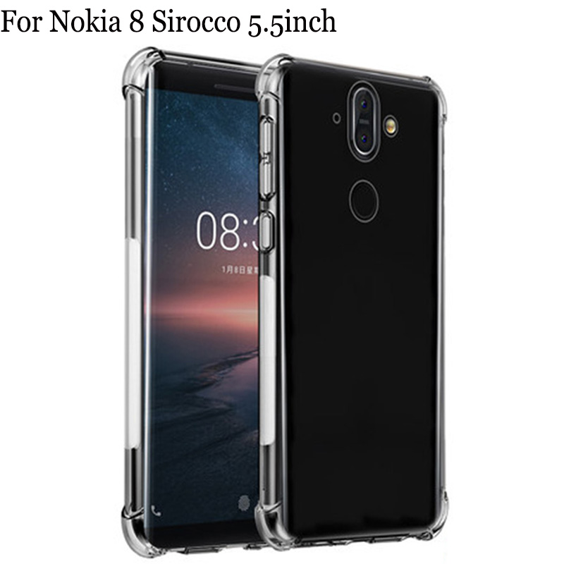 For Nokia 8 Sirocco Case cover Soft Transparent TPU Phone Cases For Nokia8 Sirocco Case For Nokia 8Sirocco back cover shell
