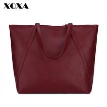 XQXA Fashion European and American Style Design Women Handbags Female Solid PU Women Bags for Ladies Shoulder Tote Bag Bolsas