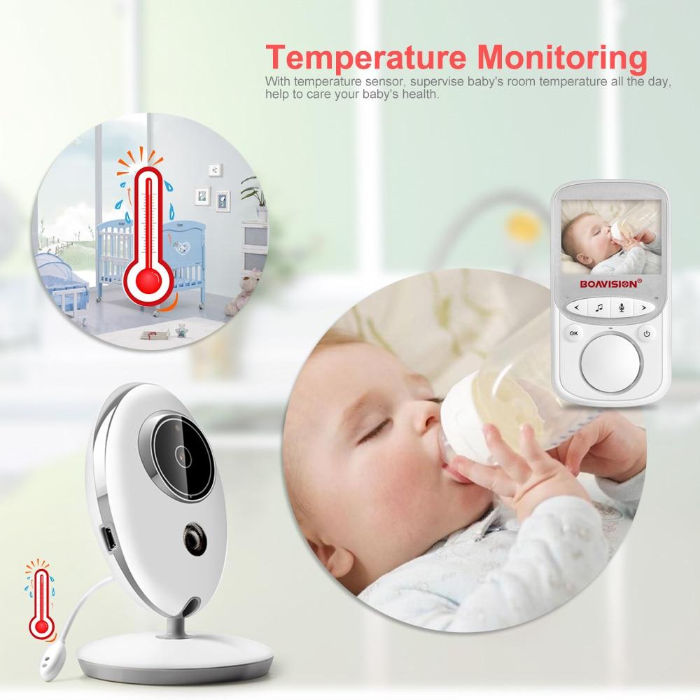 Wireless LCD Audio Video Baby Monitor VB605 Radio Nanny Music Intercom IR 24h Portable Baby Camera Baby Walkie Talkie Babysitter 2
