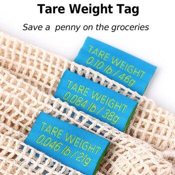 GreeOn Ecological Reusable Vegetable Fruit Bags - Reutilisable Cotton Mesh Cloth - Eco Friendly Zero Waste Produce Storage Bag 3