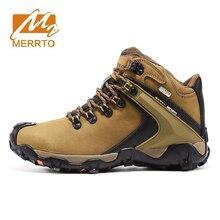 MERRTO Men's Winter Waterproof Hiking Trekking Sneakers Boots Shoes For Men Outdoor Climbing Mountain Trail Shoes Sneakers Man