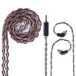 UPOCC NEOTECH 26AWG 7N pojedyncze miedziane z kryształami kabel 2.5/3.5/4.4mm zrównoważony kabel do słuchawek z MMCX import z tajwanu dla HQ8|Akcesoria do słuchawek dousznych|   -