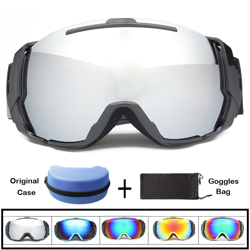 Super Big Frame Motorcycle Goggles Double Lens UV400 Skating Glasses Men Women Winter Snowboard Anti-fog Skiing Eyewear Goggles