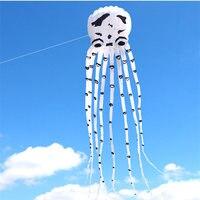 Новое поступление 3D Высокое качество 15 м мощности Белый осьминог змеев хороший Летающий змей фестиваль