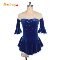 Nasinaya Figure Skating Dress Customized Competition Ice Skating Skirt for Girl Women Kids Patinaje Gymnastics Performance 392