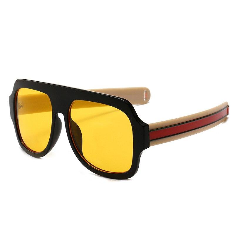 ab6bff766e9 Dropwow Big Oversized Sunglasses Man Woman Yellow Mens Sunglasses ...