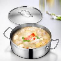 Stainless Steel Handle Cookware Dutch Oven Gas Stove Induction Cooking Soup Milk Hot Pot with Lid Home Kitchen Pots