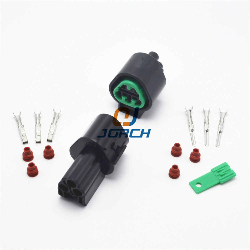 3 Pin Way Waterproof Electrical Wire Auto Connector Plug Set New Car Part Automotive <font><b>Kum</b></font> <font><b>connectors</b></font> PB621-03020 PB625-03027 image