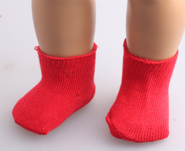 Free shipping Hot 2016 new style popular American girl doll Sockb501